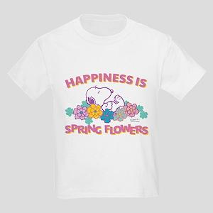Snoopy Flowers Kids Light T-Shirt