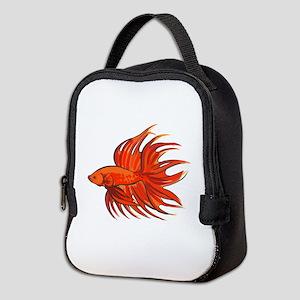 CROWNTAIL BETTA FISH Neoprene Lunch Bag