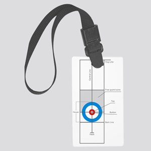 The spirit of Curling Large Luggage Tag