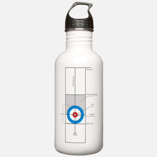 The spirit of Curling Water Bottle