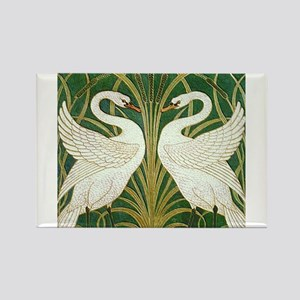 SWANS GREEN Rectangle Magnet