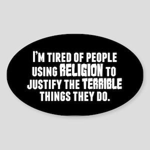 Religious Terrorism Sticker (Oval)
