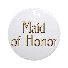 Maid of Honor Ornament (Round)