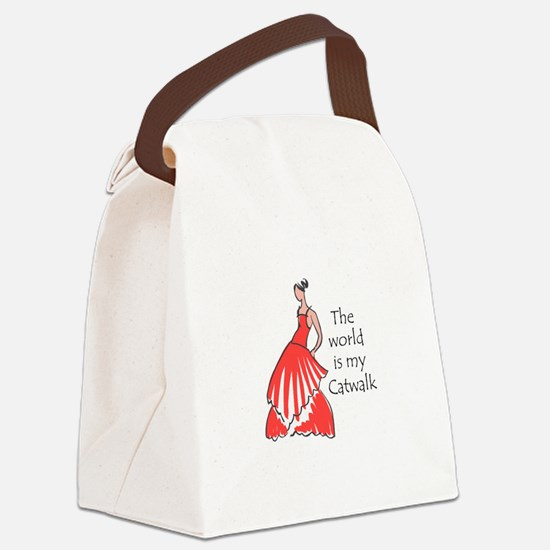 THE WORLD IS MY CATWALK Canvas Lunch Bag