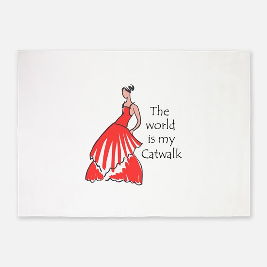 THE WORLD IS MY CATWALK 5'x7'Area Rug