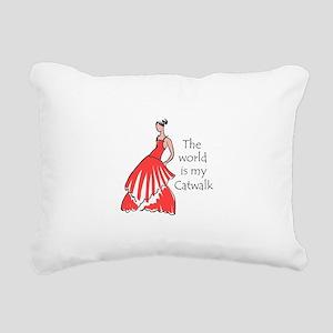 THE WORLD IS MY CATWALK Rectangular Canvas Pillow