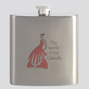 THE WORLD IS MY CATWALK Flask