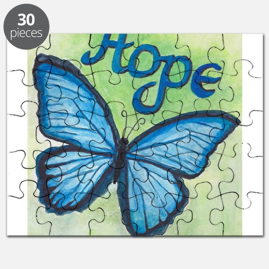 Cute Butterfly blue Puzzle