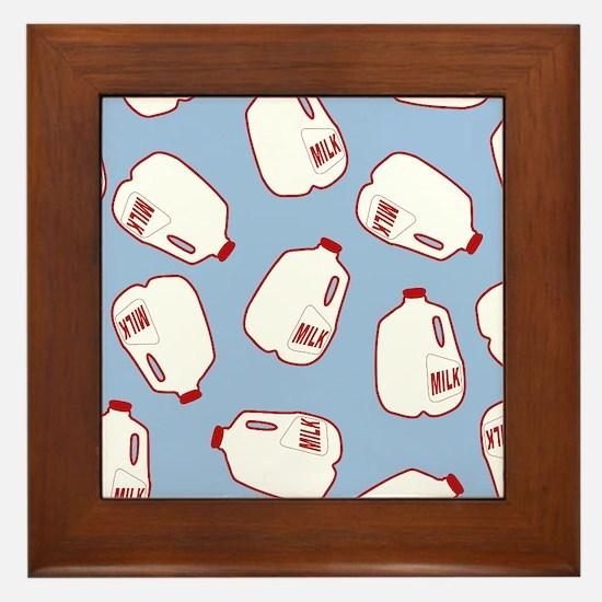 Milk Jugs Pattern Framed Tile
