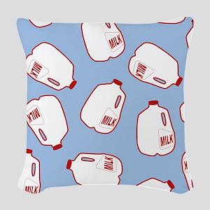 Milk Jugs Pattern Woven Throw Pillow