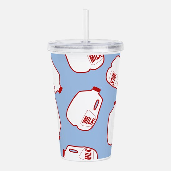 Milk Jugs Pattern Acrylic Double-wall Tumbler