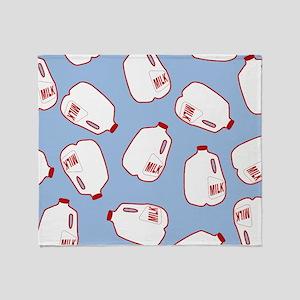Milk Jugs Pattern Throw Blanket