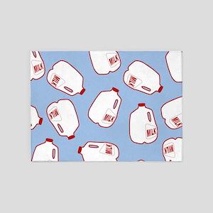 Milk Jugs Pattern 5'x7'Area Rug