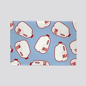 Milk Jugs Pattern Rectangle Magnet