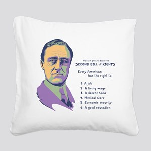 2nd Bill of Rights Square Canvas Pillow