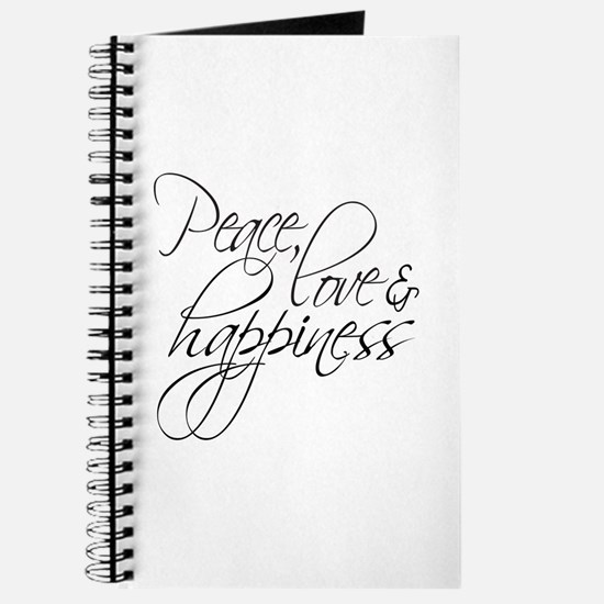 Peace Love Happiness - Journal