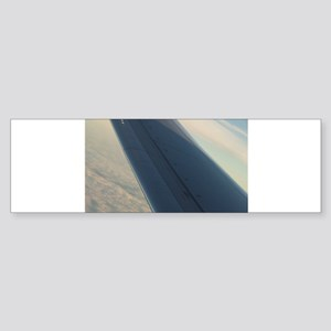 Airplane flying in sky wing in flig Bumper Sticker