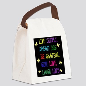 Live Life Canvas Lunch Bag