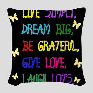Live Life Woven Throw Pillow