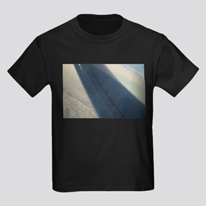 Airplane flying in sky wing in flight T-Shirt