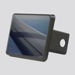 Airplane flying in sky win Rectangular Hitch Cover