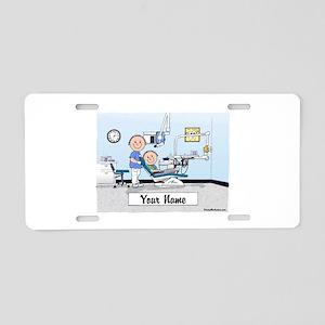 Dentist, Male Aluminum License Plate