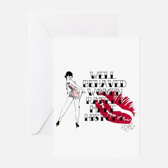 Cute Stript casual couture Greeting Card