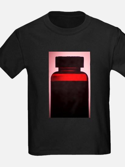 Vitamin pill bottle silhouette photo T-Shirt