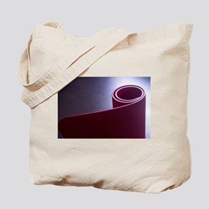 Red fitness yoga and pilates foam gym mat Tote Bag
