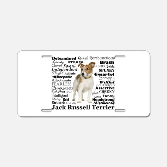 Jack Russell Traits Aluminum License Plate