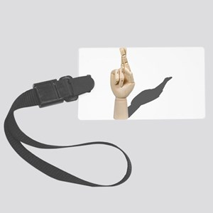 CrossedFingers120710 Large Luggage Tag