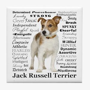 Jack Russell Traits Tile Coaster