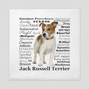 Jack Russell Traits Queen Duvet
