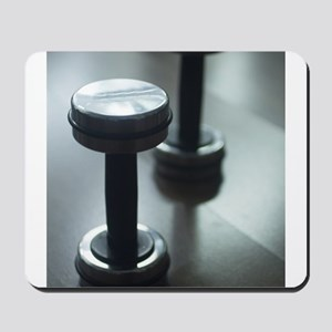 Dumbbell gym metal weights in gym health Mousepad