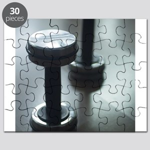 Dumbbell gym metal weights in gym health cl Puzzle