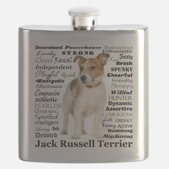 Jack Russell Traits Flask