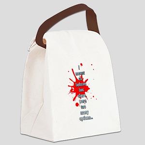 Behave Canvas Lunch Bag