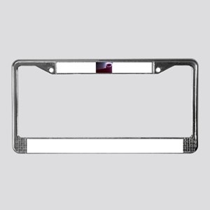Red fitness yoga and pilates f License Plate Frame