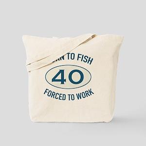40th Birthday Fishing Tote Bag