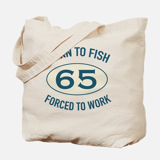 65th Birthday Fishing Tote Bag