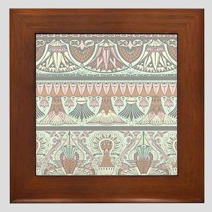 Egyptian Deco 3 Framed Tile