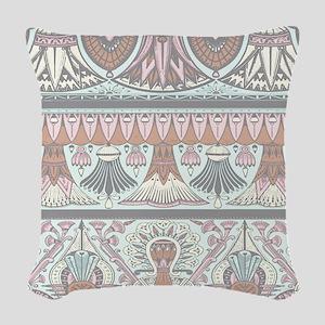 Egyptian Deco 3 Woven Throw Pillow
