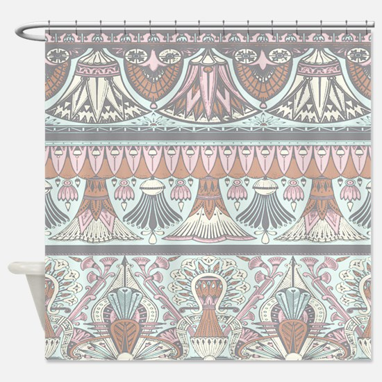 Egyptian Deco 3 Shower Curtain