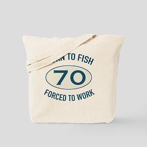 70th Birthday Fishing Tote Bag