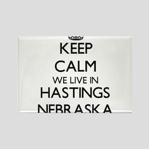 Keep calm we live in Hastings Nebraska Magnets