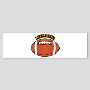 Rugby Ball with Text Sticker (Bumper)