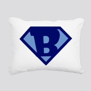 Super Hero Letter B Rectangular Canvas Pillow