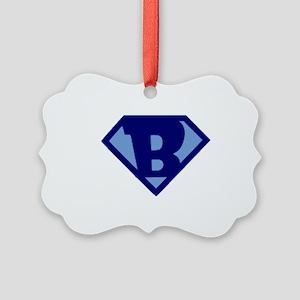 Super Hero Letter B Picture Ornament