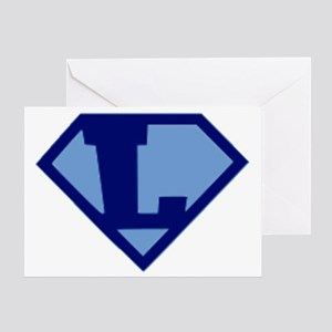 Super Hero Letter L Greeting Card
