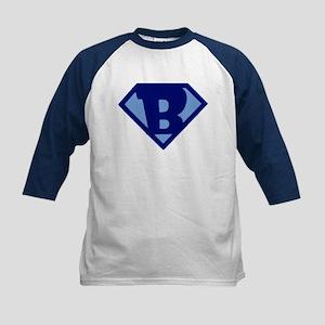 Super Hero Letter B Baseball Jersey